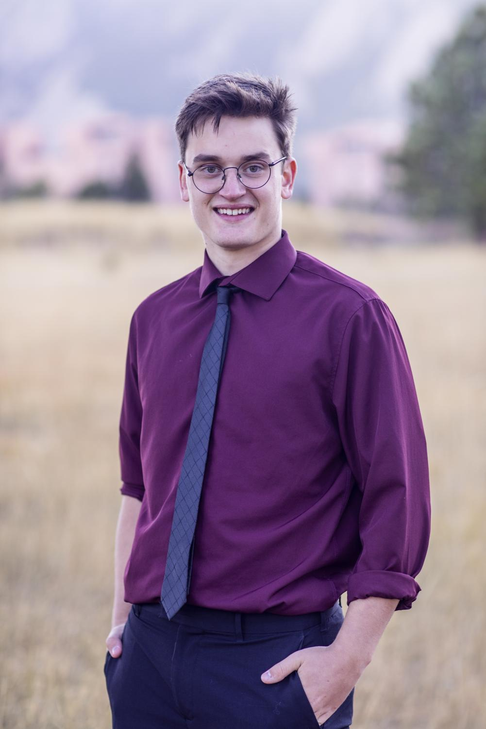 Sam Britton has been a member of the BHS marching band since his freshman year.