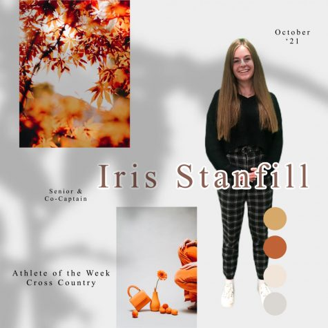 Iris Stanfill, the co-captain of the cross country team, has been running since her freshman year.