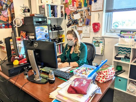 Ms. Watson readjusts to working in-person after a tumultuous year of online school.
